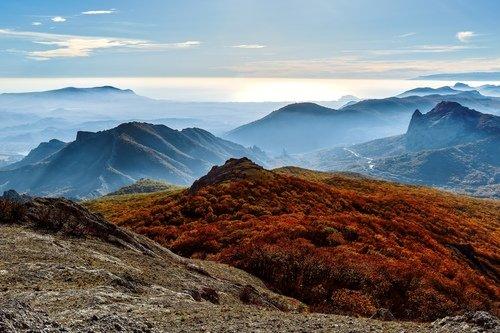 Вид с горы Эчки-Даг в Крыму.
