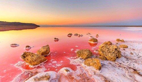 Кояшское розовое озеро
