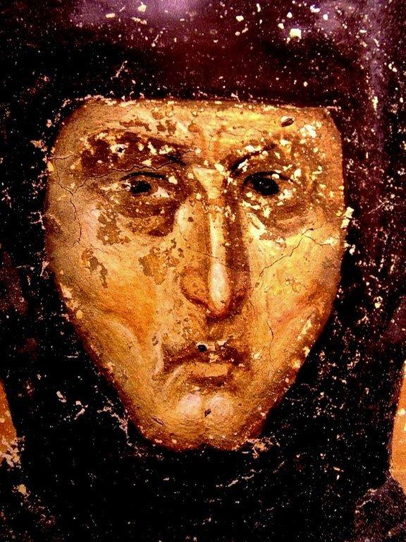 Святая Преподобная Елена, Королева Сербская. Фреска монастыря Грачаница, Косово, Сербия. Около 1320 года.