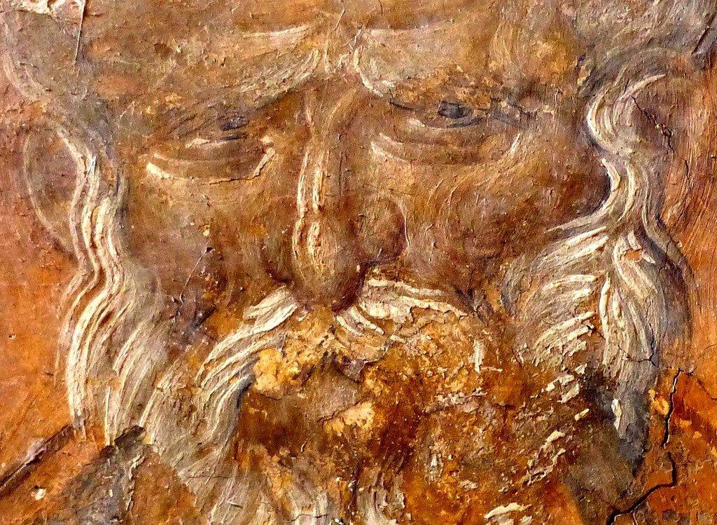 Святой Преподобный Феодор Студит, Исповедник. Фреска монастыря Высокие Дечаны, Косово, Сербия. Около 1350 года.