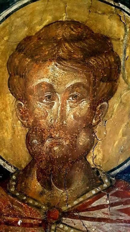 Лик Святого Мученика. Фреска церкви Святых Петра и Павла в Велико Тырново, Болгария. 1440-е годы.