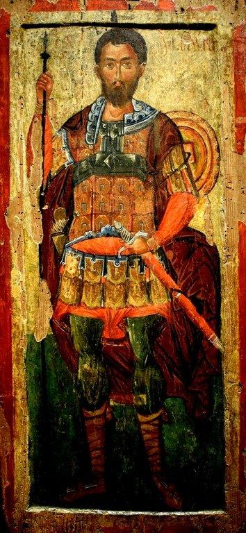 Святой Мученик Полиевкт Мелитинский. Болгарская икона XV века.