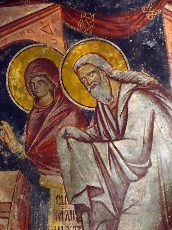 Святые Праведные Симеон Богоприимец и Анна Пророчица.