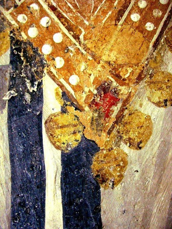 Святитель Николай, Архиепископ Мир Ликийских, Чудотворец. Фреска церкви Святых Николая и Пантелеимона (Боянской церкви) близ Софии, Болгария. 1259 год. Фрагмент.