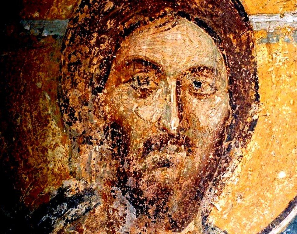 Лик Спасителя. Фреска церкви Святых Николая и Пантелеимона (Боянской церкви) близ Софии, Болгария. 1259 год.