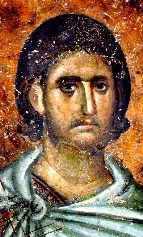 Святой Мученик. Фреска церкви Святой Троицы в монастыре Сопочаны, Сербия. XIII век.