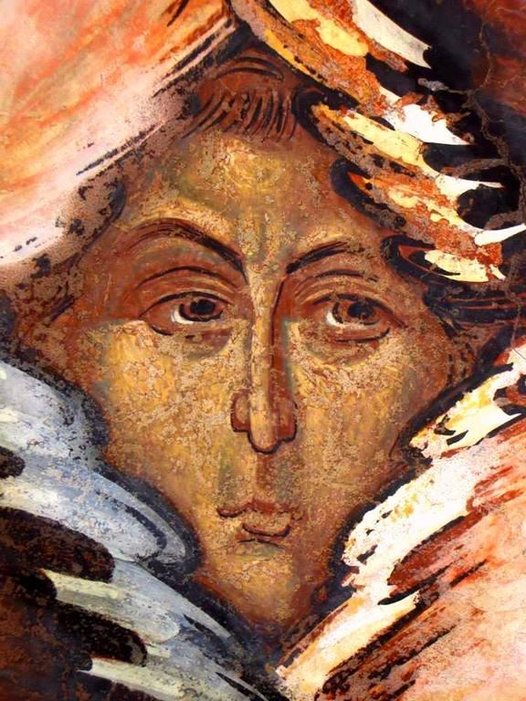 Серафим. Фреска церкви Святого Георгия в Сучаве, Румыния. 1534 год.