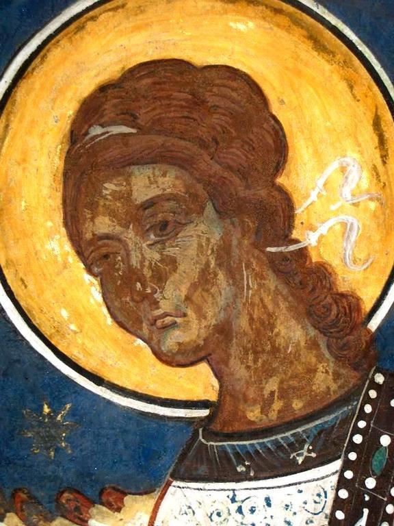 Ангел Господень. Фреска церкви Святого Георгия в Сучаве, Румыния. 1534 год.