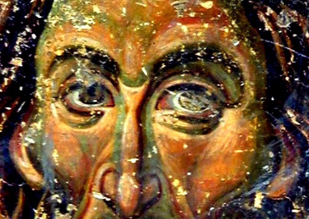 Святой Преподобный Алексий, человек Божий. Фреска притвора церкви Вознесения Господня в монастыре Милешева (Милешево), Сербия. XIII век.