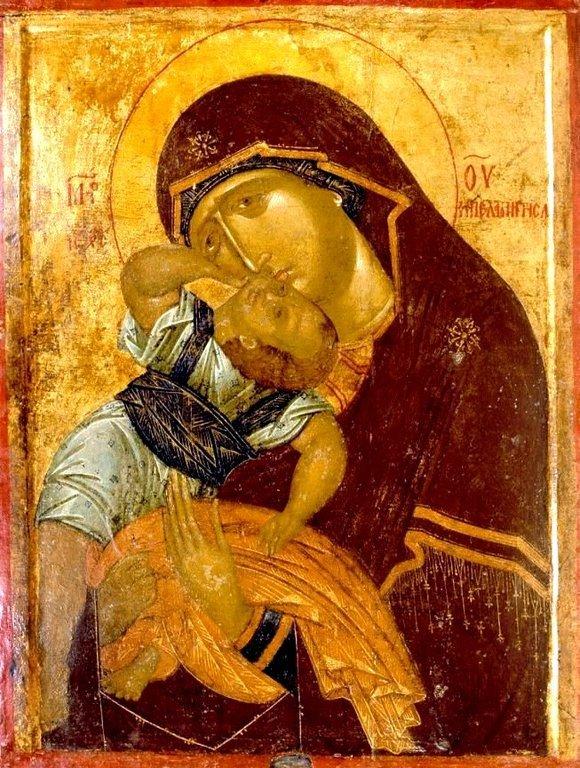 Богоматерь Пелагонитисса. Сербская икона второй половины XIV века. Монастырь Высокие Дечаны, Косово, Сербия.