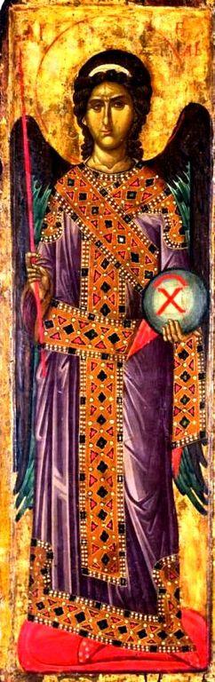 Архангел Гавриил. Икона. Сербия, около 1340 года. Монастырь Высокие Дечаны, Косово, Сербия.