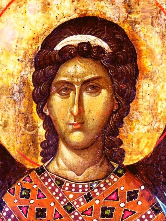 Архангел Гавриил. Икона. Сербия, около 1340 года. Монастырь Высокие Дечаны, Косово, Сербия. Лик.