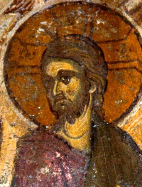 Вход Господень в Иерусалим. Фреска церкви Святого Димитрия в Охриде, Македония. XIV век. Фрагмент.