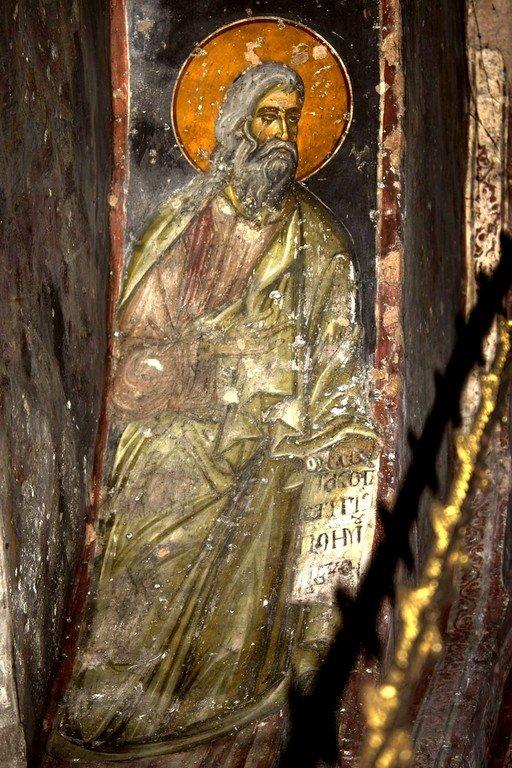 Святой Пророк. Фреска церкви Святого Ахиллия в Ариле, Сербия. 1296 год.