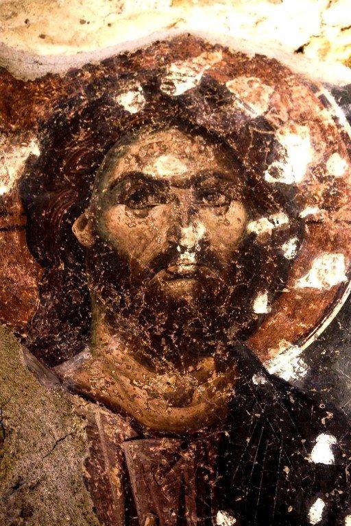 Христос Пантократор. Фреска Петровой церкви, Стари Рас, Сербия.