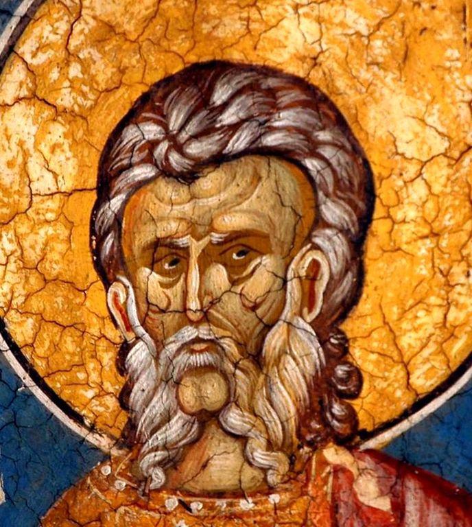 Святой Мученик Савва Стратилат. Фреска монастыря Высокие Дечаны, Косово, Сербия. Около 1350 года.