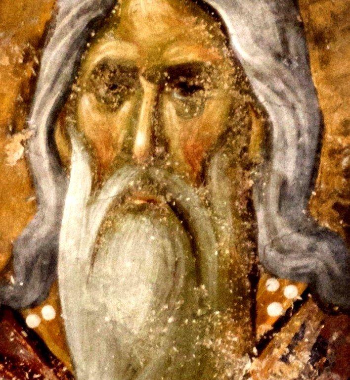 Святой первосвященник. Фреска церкви Святой Троицы в монастыре Сопочаны, Сербия. 1265 год.