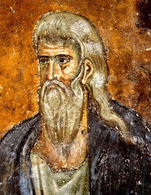 Святой Праотец. Фреска церкви Святой Троицы в монастыре Сопочаны, Сербия. 1265 год.