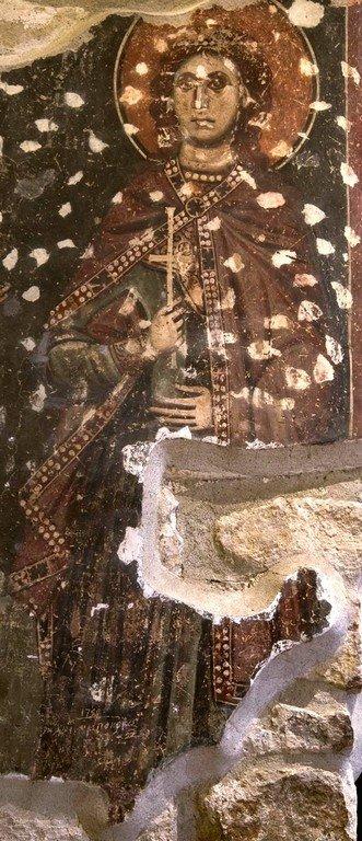 Святой Мученик Христофор. Фреска Петровой церкви, Стари Рас, Сербия.