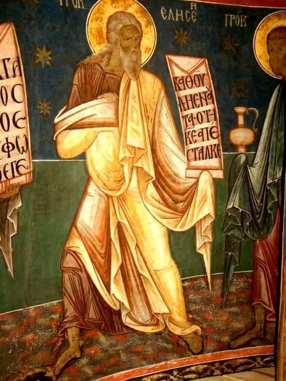 Святой Пророк Елисей. Фреска церкви Святого Георгия в Сучаве, Румыния. 1534 год.