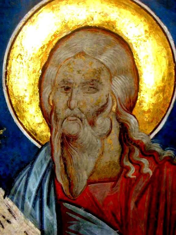 Святой Пророк Амос. Фреска церкви Святого Георгия в Сучаве, Румыния. 1534 год.