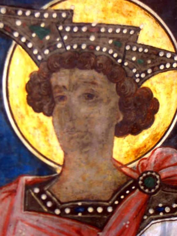 Святой Пророк Царь Соломон. Фреска церкви Святого Георгия в Сучаве, Румыния. 1534 год.