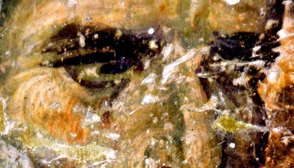 Святой Апостол Пётр. Фреска церкви Святой Троицы в монастыре Сопочаны, Сербия. 1265 год.