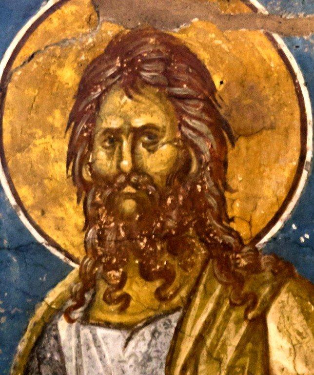 Святой Праотец Сиф. Фреска монастыря Высокие Дечаны, Косово, Сербия. Около 1350 года.