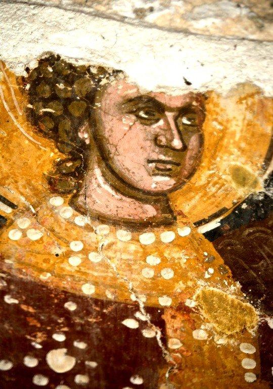 Архангел Гавриил. Фреска церкви Богородицы Больничной в Охриде, Македония. XIV век.