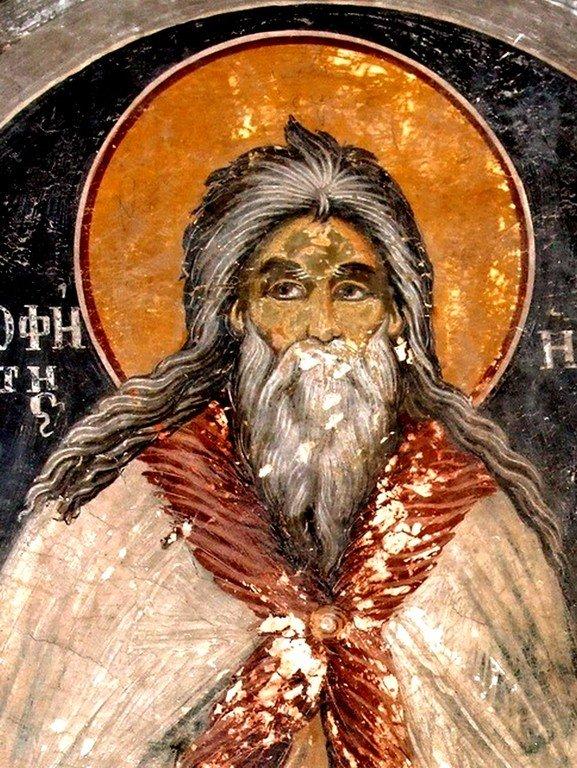 Святой Пророк Божий Илия. Фреска монастыря Святой Марины в Албании.
