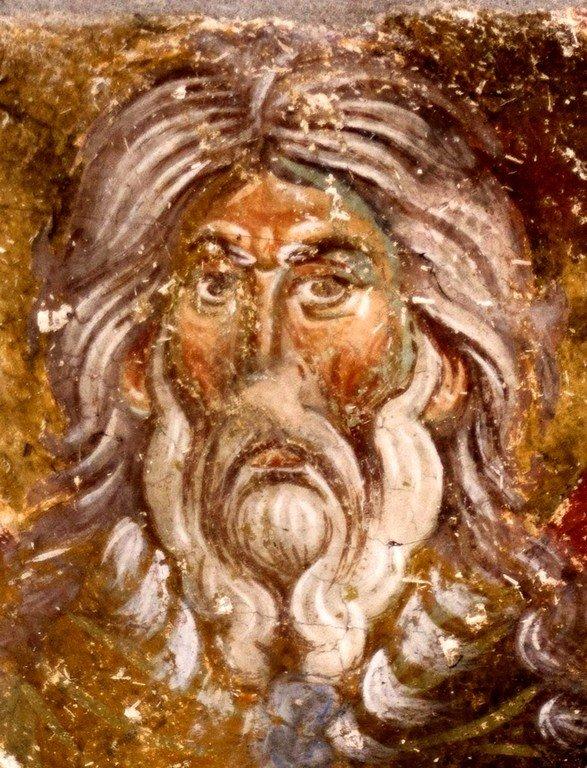 Святой Пророк Божий Илия. Фреска церкви Вознесения Господня в монастыре Милешева (Милешево), Сербия. XIII век.
