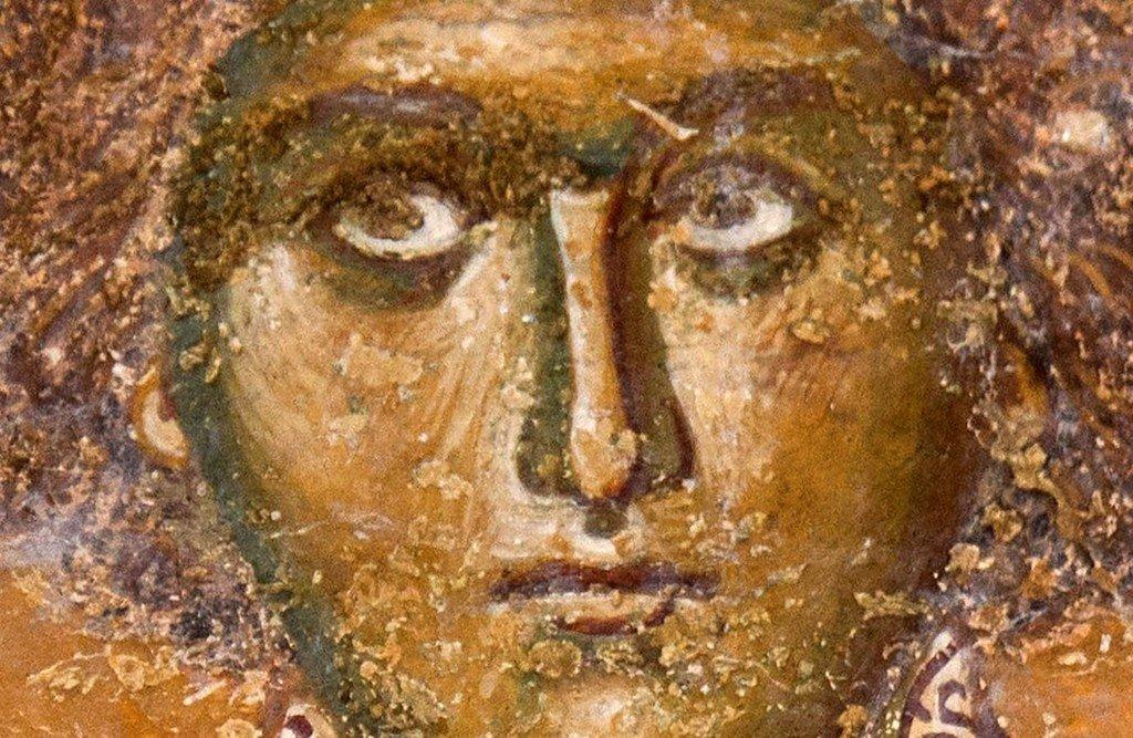 Святой Великомученик и Целитель Пантелеимон. Фреска церкви Святой Троицы в монастыре Сопочаны, Сербия. XIII век.