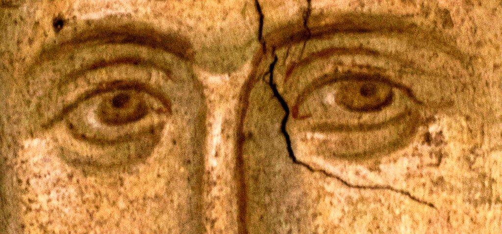 Святой Апостол от Семидесяти, Первомученик и Архидиакон Стефан. Фреска монастыря Высокие Дечаны, Косово, Сербия. Около 1350 года.