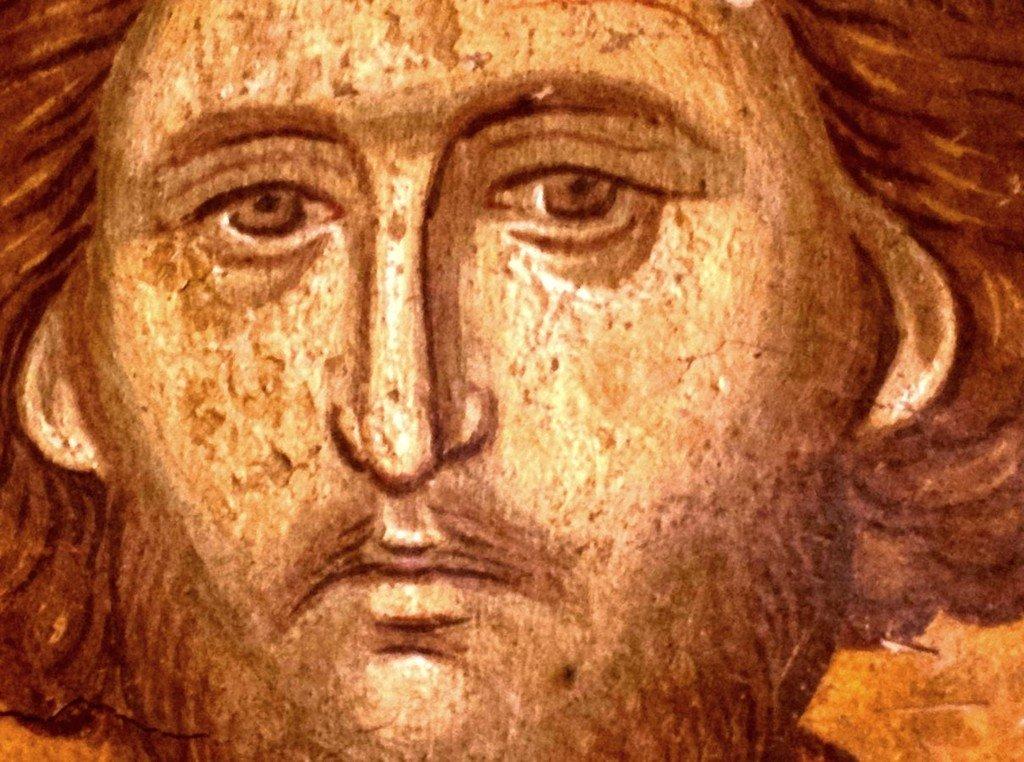 Святой Мученик Христин. Фреска монастыря Высокие Дечаны, Косово, Сербия. Около 1350 года.