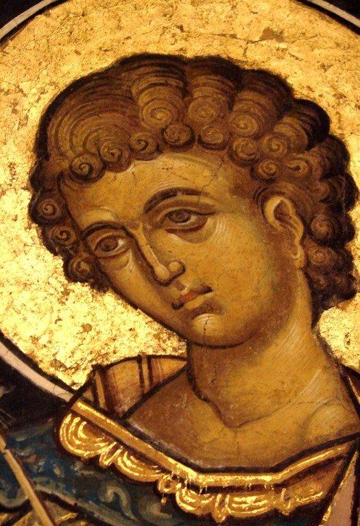 Святой Мученик Лупп Солунский. Фреска из монастыря Куртя де Арджеш, Румыния. 1526 год. Иконописец Добромир.