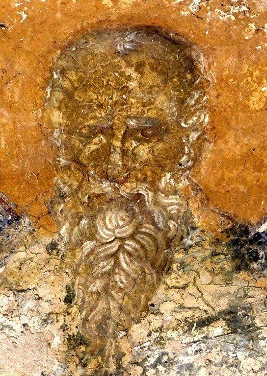 Святой Преподобный Пимен Великий (?). Фреска монастыря Высокие Дечаны, Косово, Сербия. Около 1350 года.