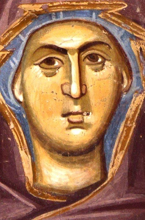 Богоматерь Оранта. Фреска церкви Богоматери Одигитрии в монастыре Печская Патриархия, Косово, Сербия. 1330-е годы.