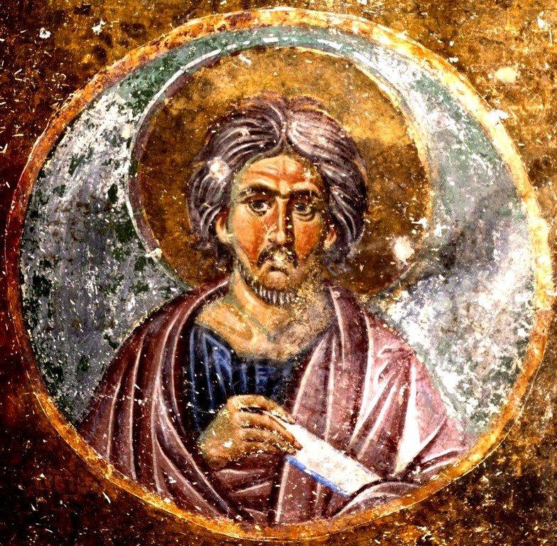 Святой Пророк Моисей Боговидец. Фреска церкви Вознесения Господня в монастыре Милешева (Милешево), Сербия. XIII век.