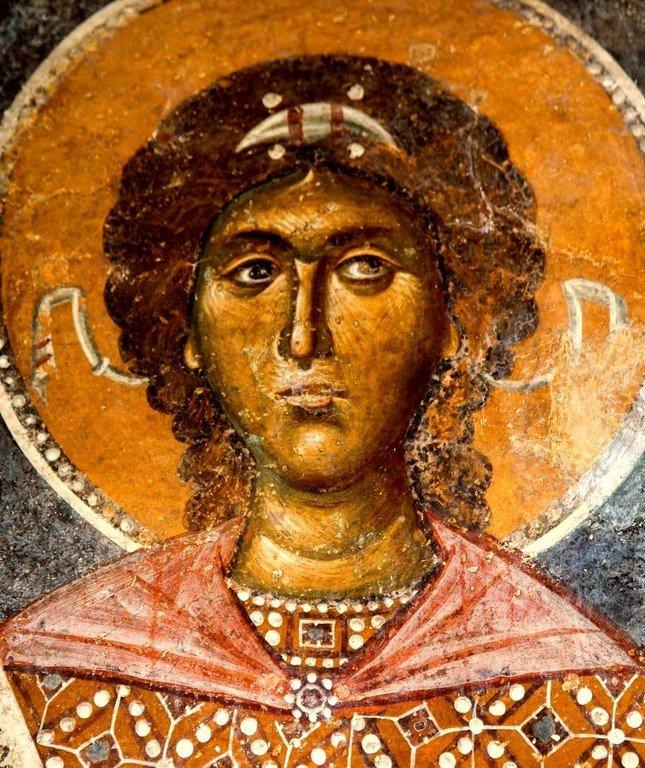Архангел Михаил. Фреска церкви Святой Троицы в монастыре Сопочаны, Сербия. XIII век.