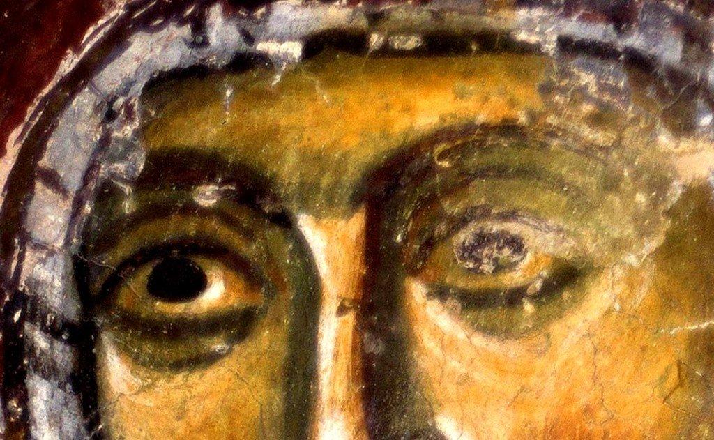 Святая Праведная Анна, матерь Пресвятой Богородицы. Фреска капеллы Краля Драгутина в монастыре Джурджеви Ступови, Сербия. 1282 - 1283 годы.