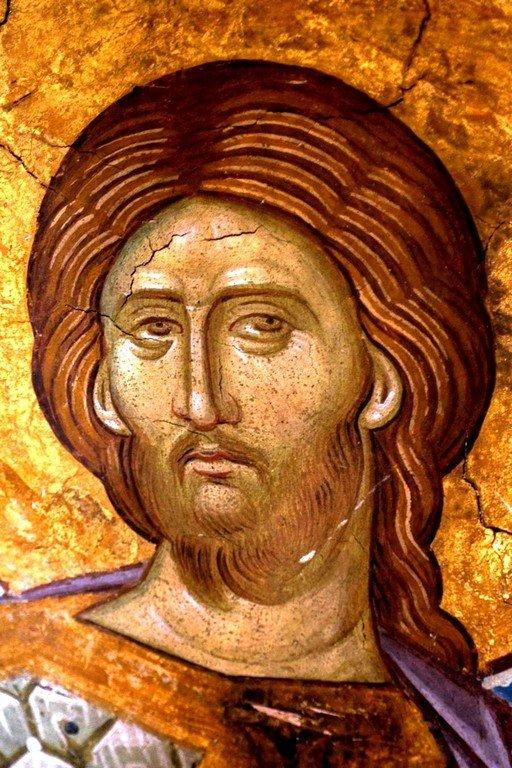 Святой Великомученик Никита Готфский. Фреска монастыря Высокие Дечаны, Косово, Сербия. Около 1350 года.