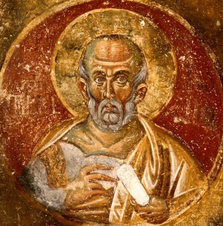 Святой Пророк Иона. Фреска церкви Вознесения Господня в монастыре Милешева (Милешево), Сербия. XIII век.