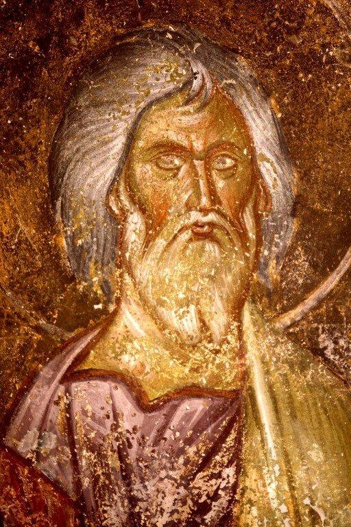 Святой Праведный Гедеон, судия Израильский. Фреска монастыря Градац, Сербия. XIII век.
