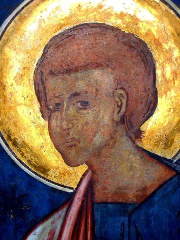 Святой Апостол Фома. Фреска церкви Святого Георгия в Сучаве, Румыния. 1534 год.