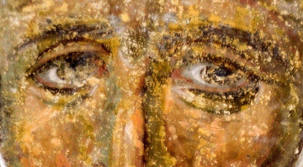 Святой Преподобный Иларион Великий. Фреска церкви Вознесения Господня в монастыре Милешева (Милешево), Сербия. XIII век.