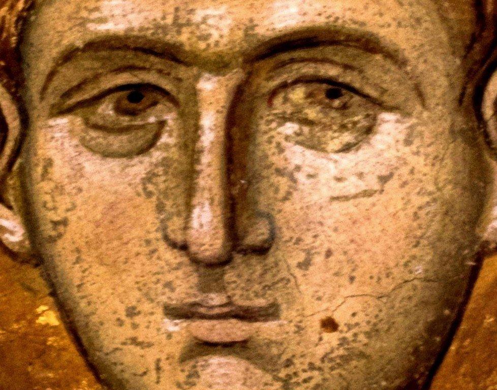Святой Великомученик Димитрий Солунский. Фреска монастыря Высокие Дечаны, Косово, Сербия. Около 1350 года.