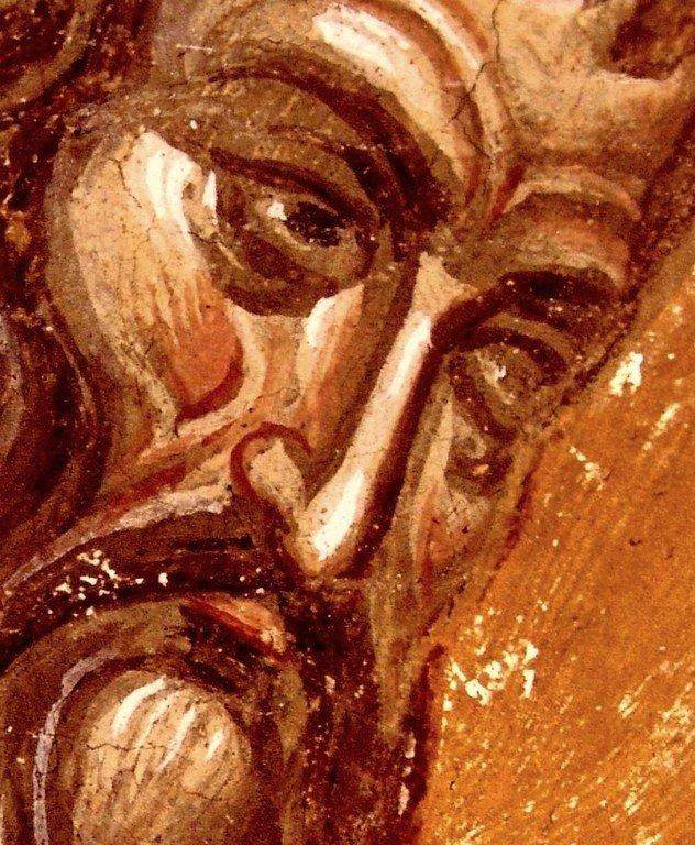 Святитель Арсений Сремец, Архиепископ Сербский. Фреска монастыря Высокие Дечаны, Косово, Сербия. Около 1350 года.