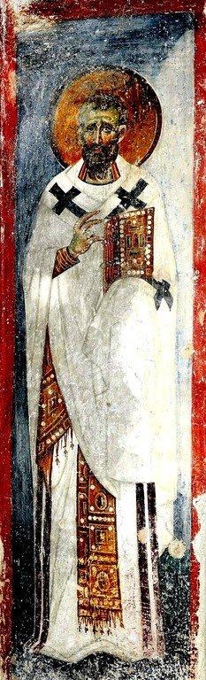 Святитель. Фреска церкви Вознесения Господня в монастыре Милешева (Милешево), Сербия. XIII век.