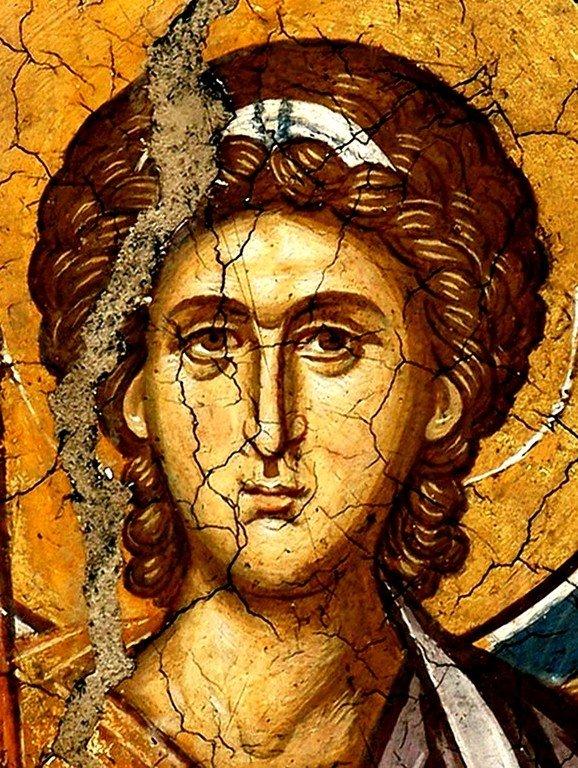 Архангел Михаил. Фреска монастыря Высокие Дечаны, Косово, Сербия. Около 1350 года.