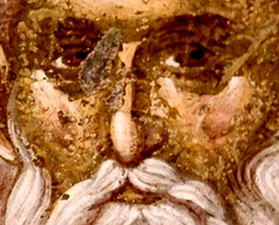 Святой Мученик Гурий Едесский. Фреска монастыря Грачаница, Косово, Сербия. Около 1320 года.
